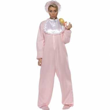 Roze baby carnavalskleding volwassenen