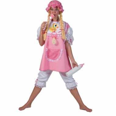 Roze babypak volwassenen carnavalskleding
